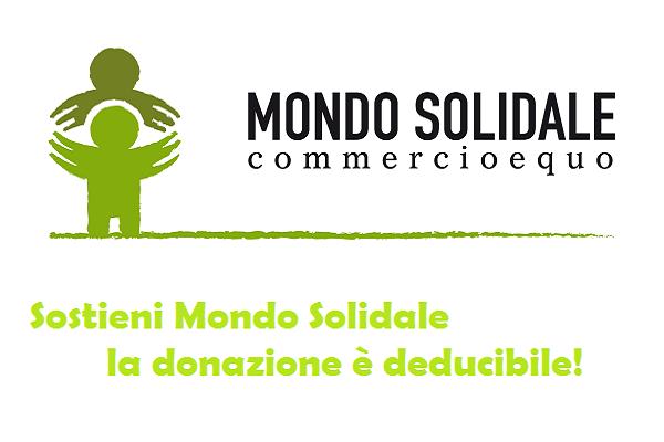 Sostieni Mondo Solidale, la donazione è deducibile!